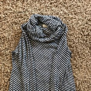 Lou & Grey Sweaters - Maternity striped cowl neck sweater